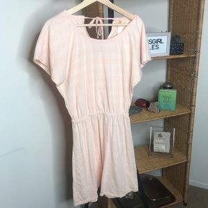Lucy Peach Pink Summer Cover Up Dress Small Petite